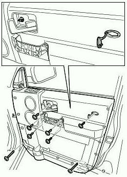 Как снять карту двери Land Rover 3