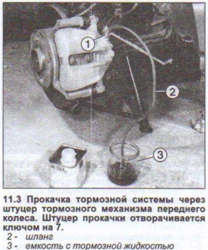 прокачка тормозной системы на Ауди 80