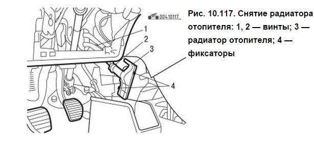 Снятие радиатора печки Peugeot 306