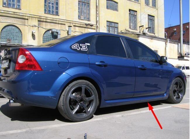 Установка порогов на форд фокус 2