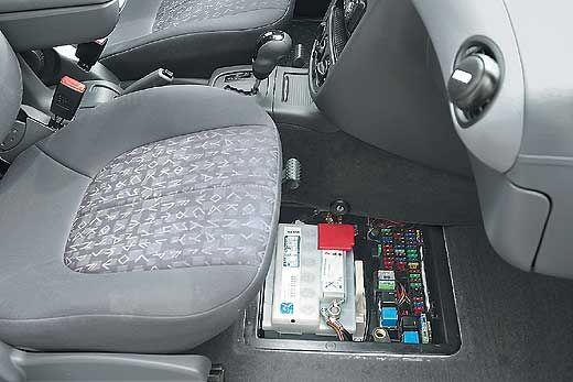 Mercedes-W168-A-Klasse где стоит акб
