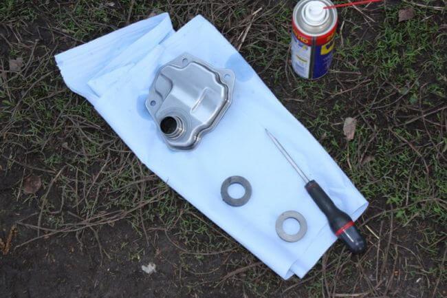 Промывка фильтра и магнитов поддона вариатора