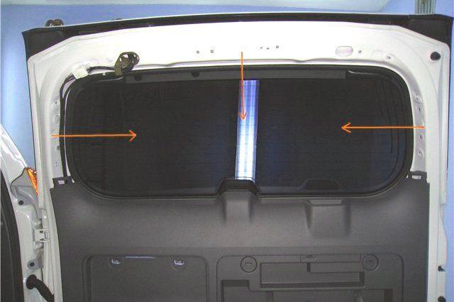 снятие накладок для демонтажа карты двери багажника Прадо 150