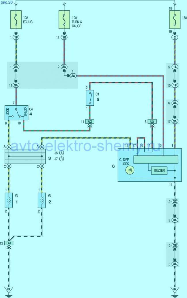 Схема Rav4 Дифференциал