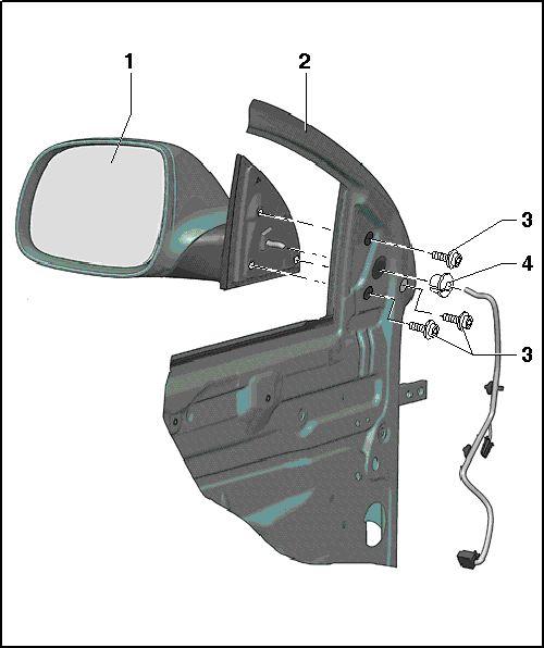 Как снять зеркало Audi Q7