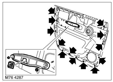 Снятие обшивки передней двери Рендж Ровер 3