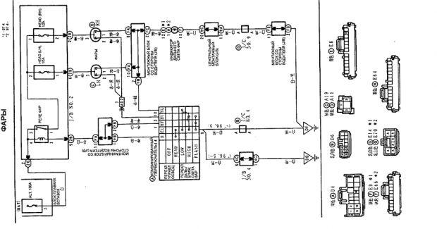Схема фар Тойота Спринтер Кариб