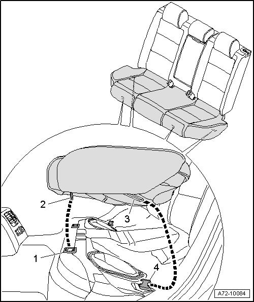 Снятие заднего сидения на Ауди А6