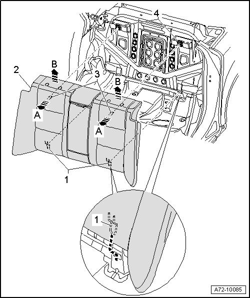 Снятие спинки заднего сидения ауди а6
