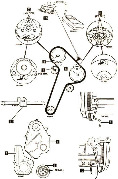Коленчатый вал и маховик ВАЗ 2115-14