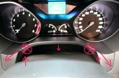 снятие приборной панели Ford Focus 3