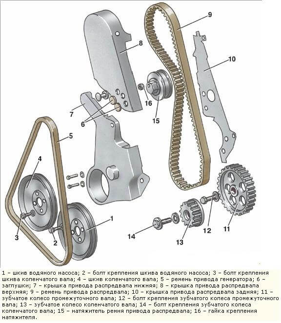 Ремень грм VW Jetta 1.6