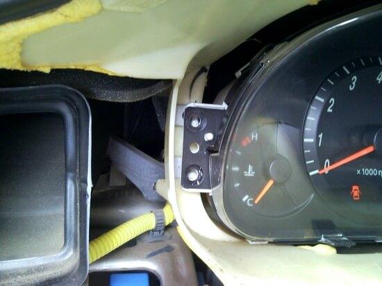 снятие приборной панели Hyundai Elantra 3