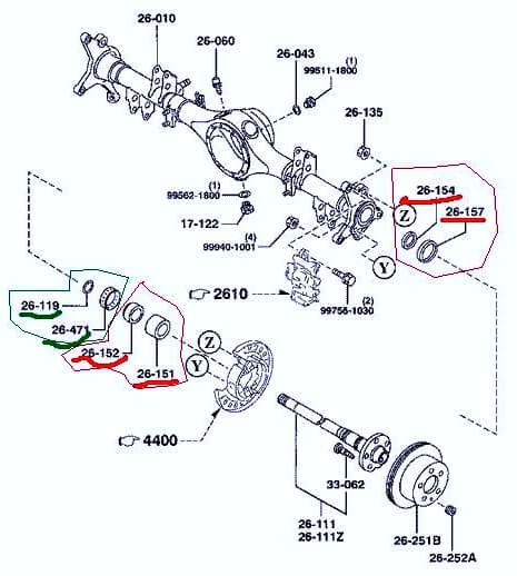 Замена подшипника задней ступицы Mazda MPV