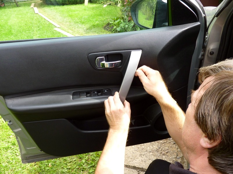 Как снять ручку с двери ниссан кашкай