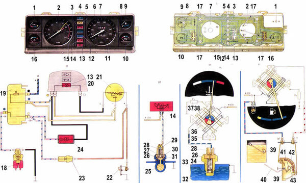 схема подключения тахометра ваз 2107
