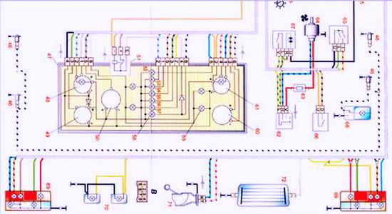 электро схема приборной панели ВАЗ 2107