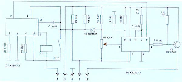 электро схема реле поворотов
