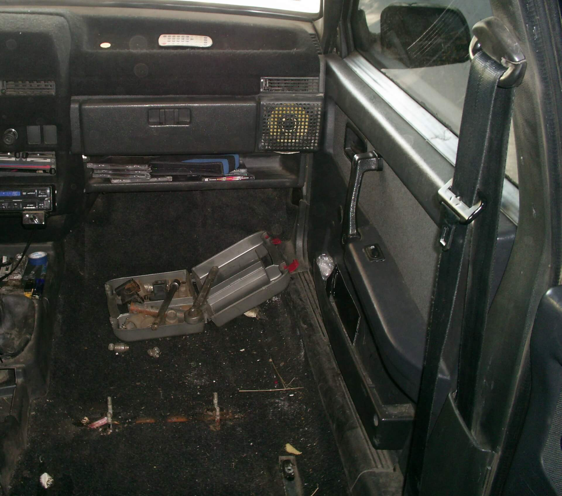салон ваз 2109 без сидушки пассажира