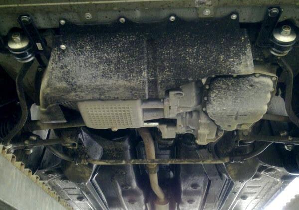 Как снять поддон двигателя на Гранте с акпп