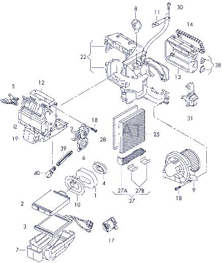 замена вентилятора и резистора печки Поло