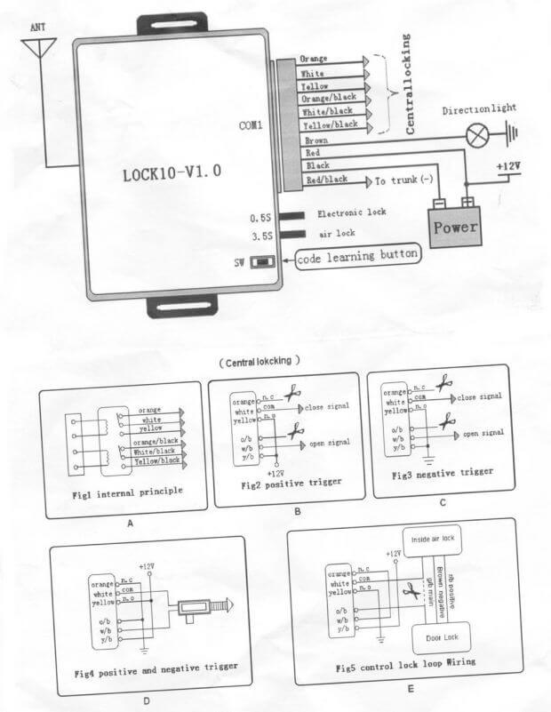 b836fa57aa4670db3e76ffbfd3327657 - Схема блока управления центрального замка