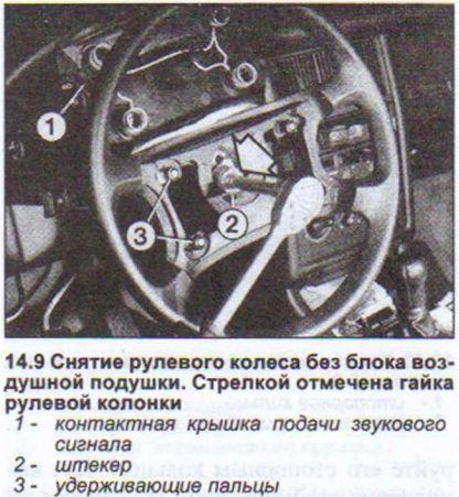 Снятие рулевого колеса Ауди 80
