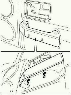как снять облицовку ручки двери Ленд Ровер 3