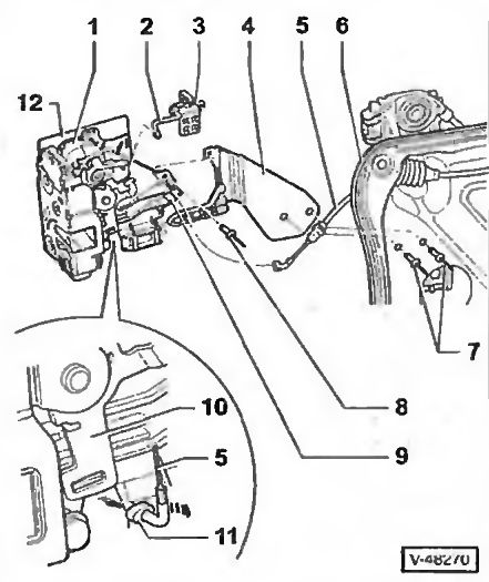 Замен дверного замка Фольксваген Транспортер 5