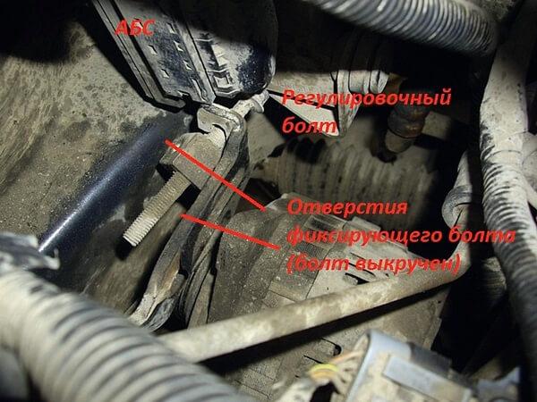 как снять генератор Чери Тигго