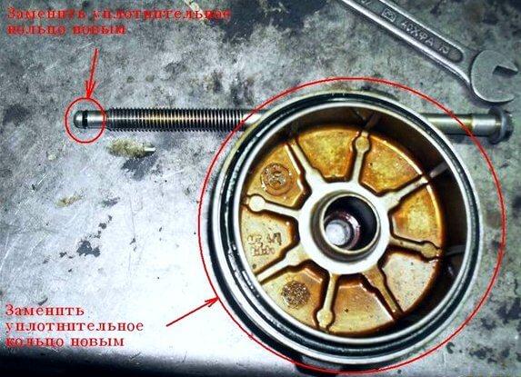 уплотнительные кольца масляного фильтра