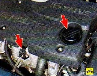 пробка маслоналивной горловины и щуп ВАЗ 2110