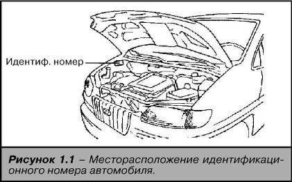 Местонахождение номера кузова Hyundai Starex (H1)