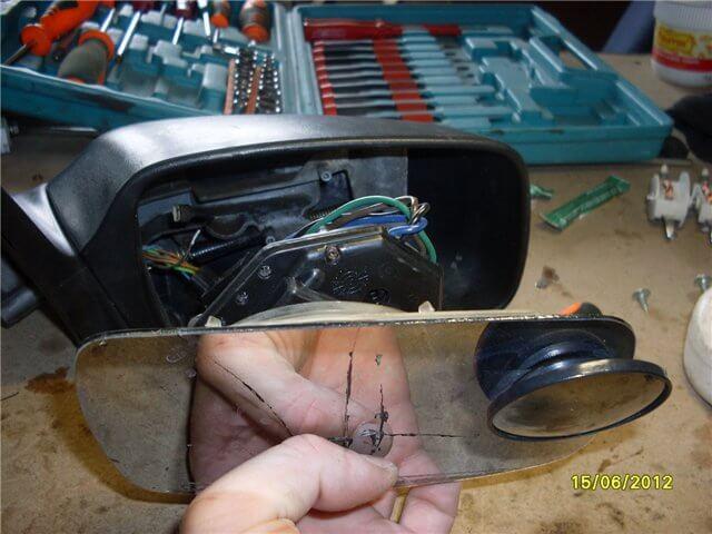 как разобрать боковое зеркало Форд Мондео