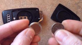 Замена батарейки в ключе Ауди А6