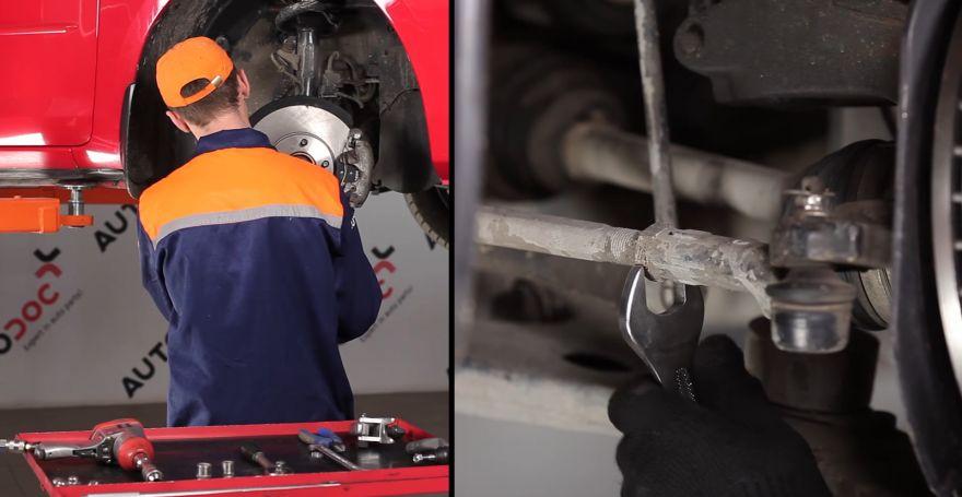 Замена средней рулевой тяги мазда 3 bk Замена тормозного барабана ниссан