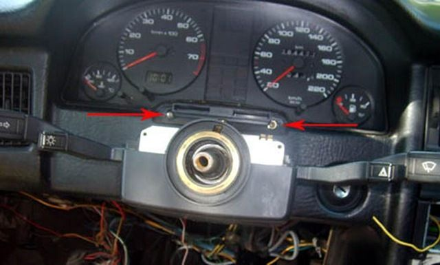 audi 80/90 b3/b4 ремонт приборной панели.