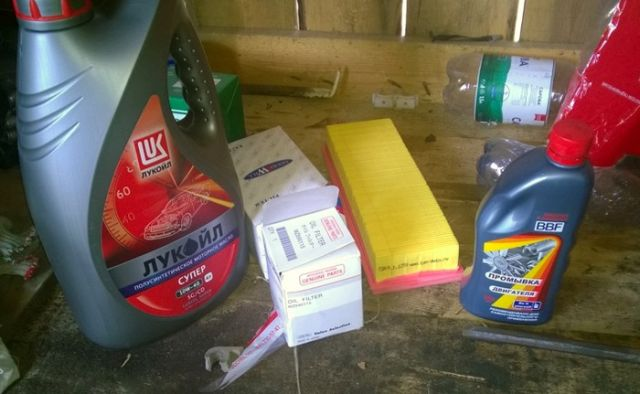 как поменять масло на фиат альбеа
