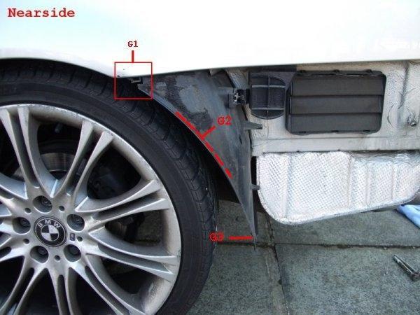 как снять передний бампер на BMW e46