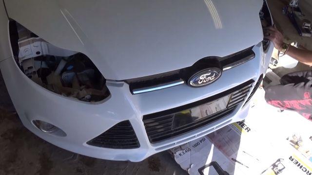 ford focus 3 снять передние фары видео